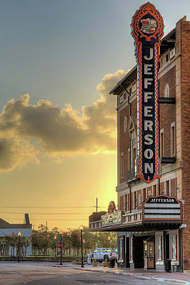 Photograph - The Jefferson Theater In Beaumont Texas by JC Findley