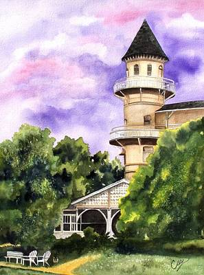 Painting - The Jekyll Island Club by Karen Casciani