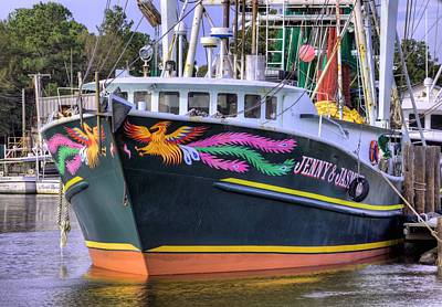 Shrimpboats Wall Art - Photograph - The Jenny And Jasmine  by JC Findley
