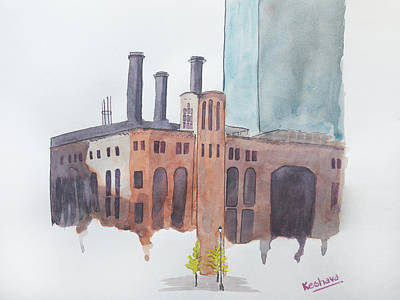 Digital Art - The Jersey City Powerhouse by Keshava Shukla