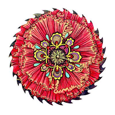 Mixed Media - The Jessie-rose Clock Blossom by Jessica Sornson