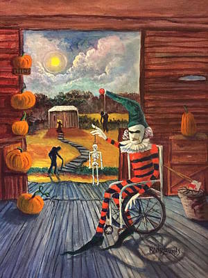 Painting - The Jester Waits by Randy Burns