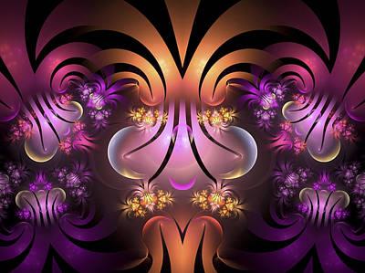 Jester Digital Art - The Jesters Garden by Amorina Ashton