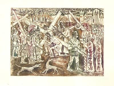 The Jesus  Carry The Cross Original by Milen Litchkov