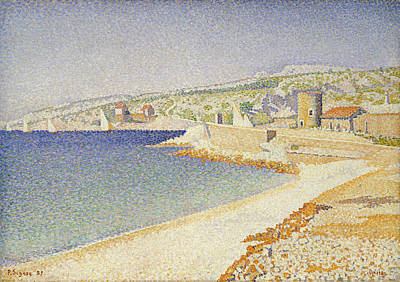 Shoreline Painting - The Jetty At Cassis, Opus 198 by Paul Signac
