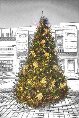 Digital Art - The Jewelers Christmas Tree by John Haldane