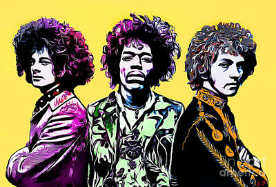 Drawing - The Jimi Hendrix Experience by Sergey Lukashin