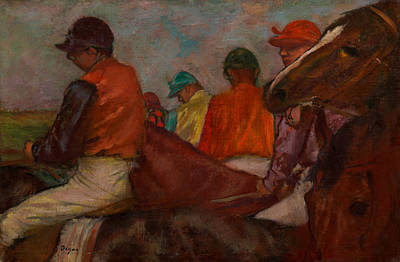 Race Horse Painting - The Jockeys by Mountain Dreams