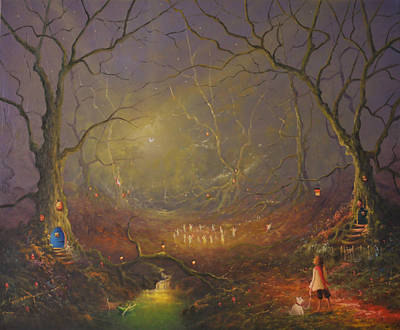 Midsummer Painting - The Fairy Ring Party by Joe Gilronan