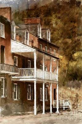 Brown Tones Digital Art - The John Brown Museum Harper's Ferry by Lois Bryan