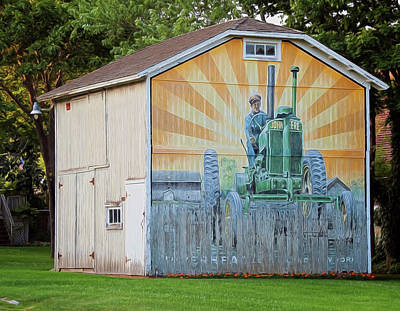 Photograph - The John Deere Barn by Cathy Kovarik