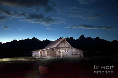Photograph - The John Moulton Barn On Mormon Row At The Base Of The Grand Tetons Wyoming by Greg Kopriva