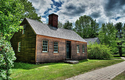 Photograph - The John Wells House In Wells Maine by Wayne Marshall Chase