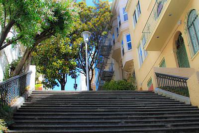 Photograph - The Joice Street Steps by Bonnie Follett