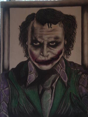 Heath Ledger Mixed Media - The Joke by Stephanie Morton