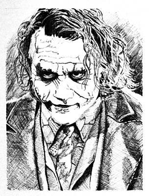 Heath Ledger Mixed Media - The Joker by Brian Sanford