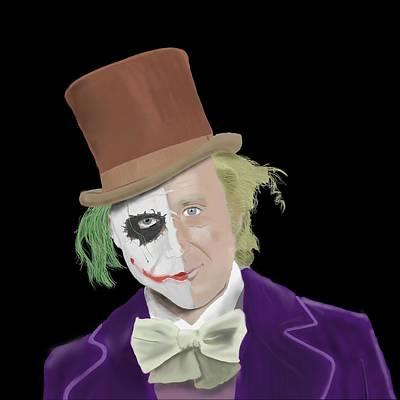 Heath Ledger Digital Art - The Joker But A Little Bit 'wilder' by Jarod Hamley