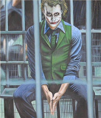 Heath Ledger Painting - The Joker by Colm Hutchinson