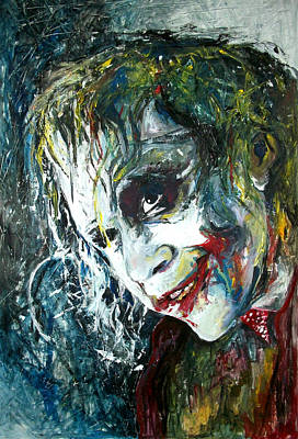 Heath Ledger Wall Art - Painting - The Joker - Heath Ledger by Marcelo Neira