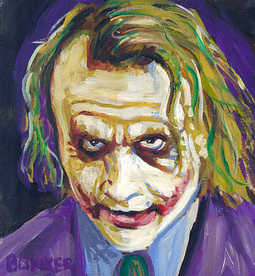 Heath Ledger Wall Art - Painting - The Joker by Buffalo Bonker