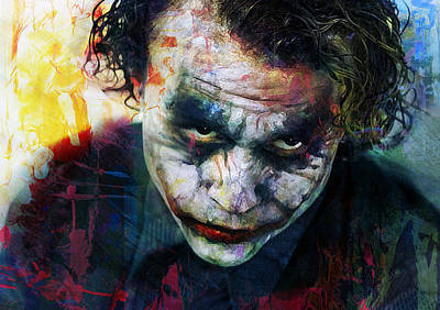 Heath Ledger Wall Art - Mixed Media - The Joker by Mal Bray