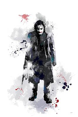 Heath Ledger Wall Art - Digital Art - The Joker by Marlene Watson