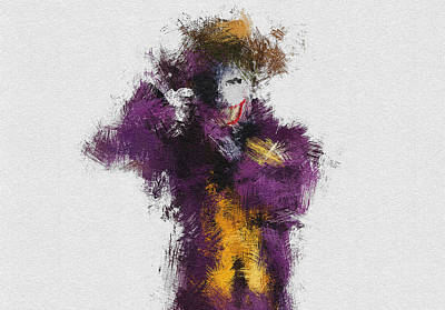 Heath Ledger Wall Art - Painting - The Joker by Miranda Sether
