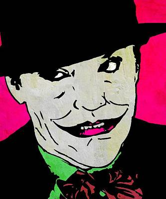 Jack Nicholson Mixed Media - The Joker by Otis Porritt