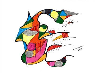 Drawing - The Joker by Paul Meinerth
