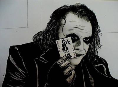 Drawing - The Joker by Pj Artman