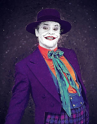Heath Ledger Wall Art - Digital Art - The Joker by Zapista