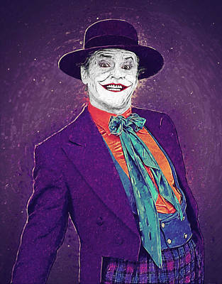 Heath Ledger Digital Art - The Joker by Taylan Apukovska