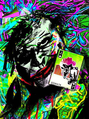 Heath Ledger Digital Art - The Joker - Toxic Neon Remix by Soma79