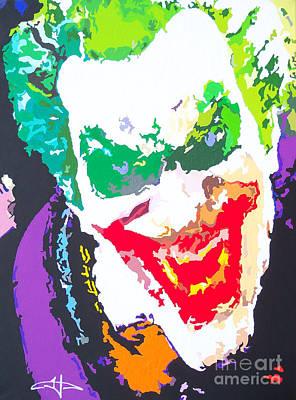 Marvel Painting - The Joker's Soul by Kelly Hartman