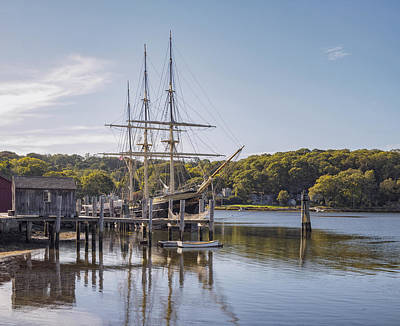 Photograph - The Joseph Conrad Mystic Seaport by Marianne Campolongo
