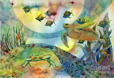 Turtle Wall Art - Painting - The Journey Begins by Amy Kirkpatrick