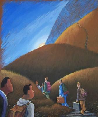 The Journey Men Art Print by Marjorie Hause