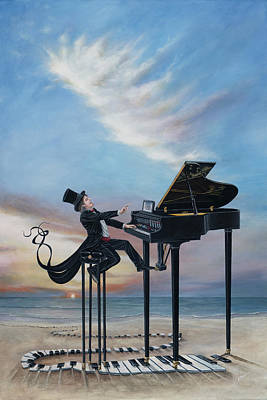 Painting - The Journey Of A Pianist by Cindy D Chinn