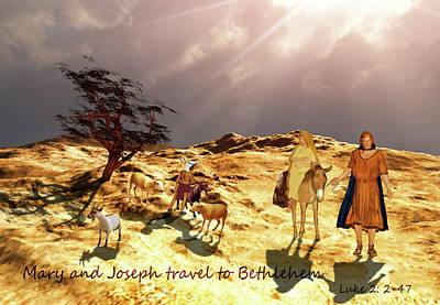 Painting - The Journey To Bethlehem by Valerie Anne Kelly