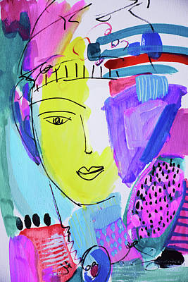 Painting - The Joy Of Contemplation And Color by Amara Dacer