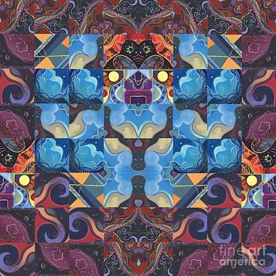 The Joy Of Design Mandala Series Puzzle 6 Arrangement 6 Art Print by Helena Tiainen