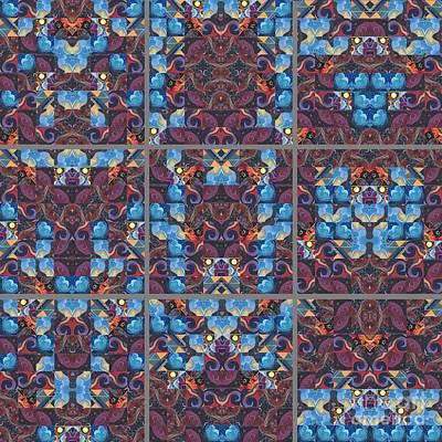 Mixed Media - The Joy Of Design Mandala Series Puzzle 6 by Helena Tiainen