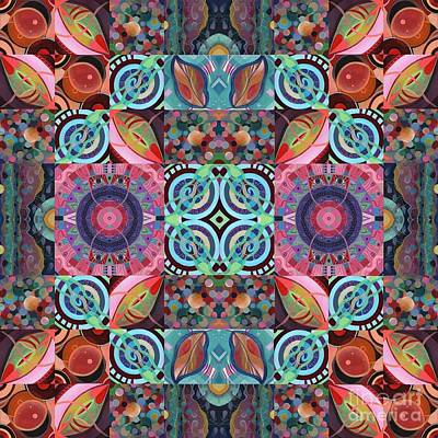 Painting - The Joy Of Design Mandala Series Puzzle 7 Arrangement 1 by Helena Tiainen