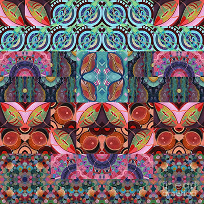 The Joy Of Design Mandala Series Puzzle 7 Arrangement 3 Art Print