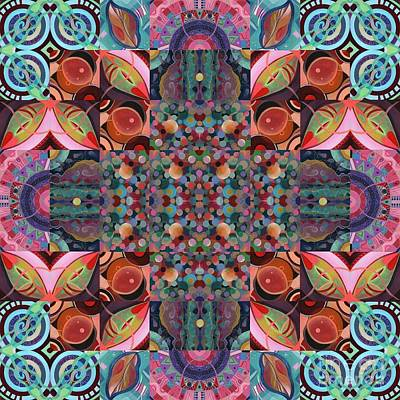 Mixed Media - The Joy Of Design Mandala Series Puzzle 7 Arrangement 4 by Helena Tiainen