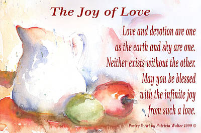 Mixed Media - The Joy Of Love by Patricia Walter