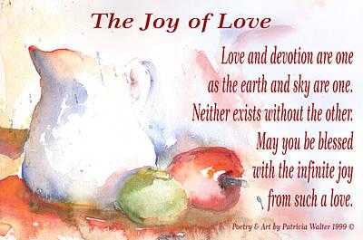 Mixed Media - The Joy of Love by Patricia Walter