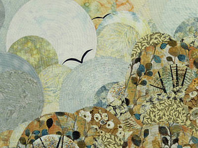 Flock Fabric Tapestry - Textile - The Joy Of Soaring by Linda Beach