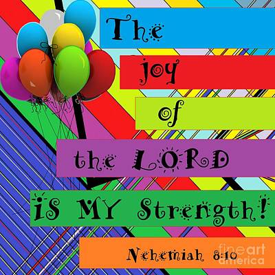 Overcoming Mixed Media - The Joy Of The Lord by Eloise Schneider