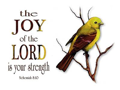 Mixed Media - The Joy Of The Lord Is Your Strength by Joyce Geleynse